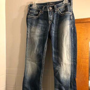 Silver Jeans w29 Natsuki capri